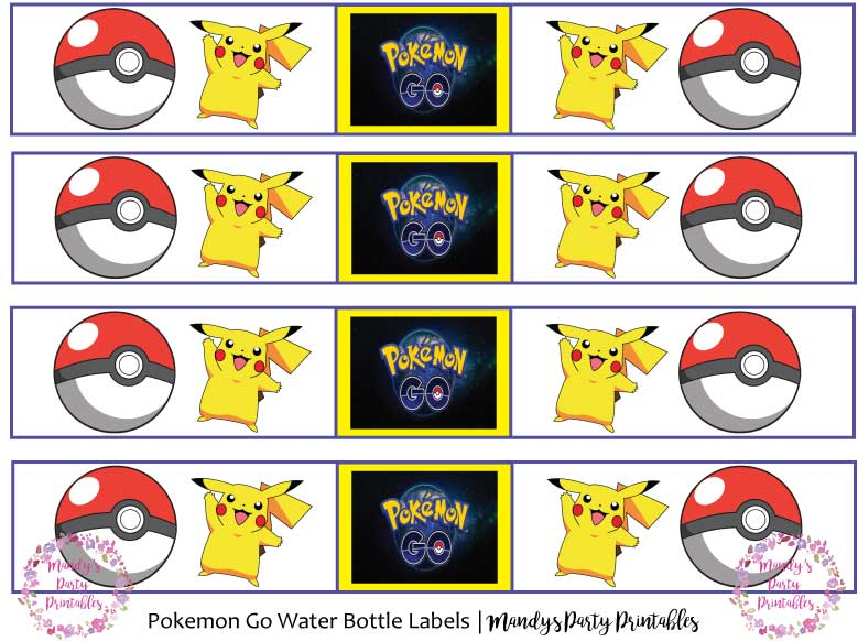 Pokemon Go Birthday Printables Mandy S Party Printables