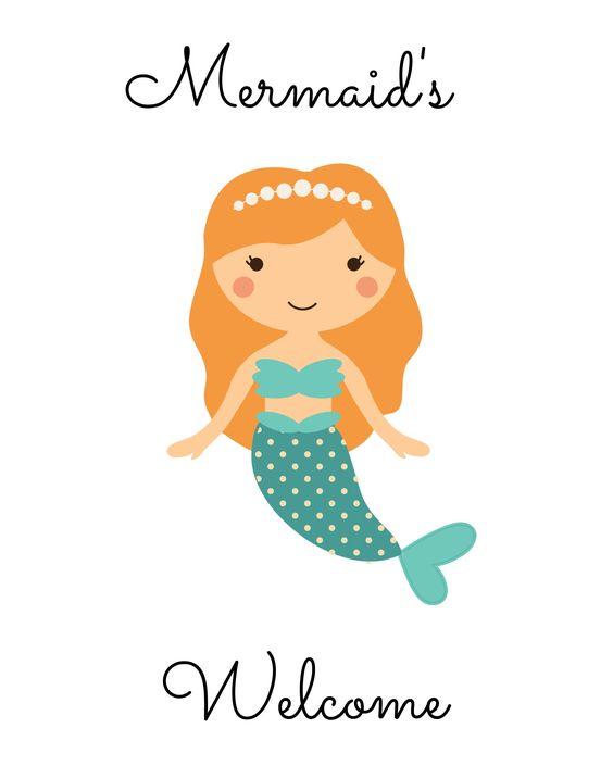 Modest image intended for mermaid printable