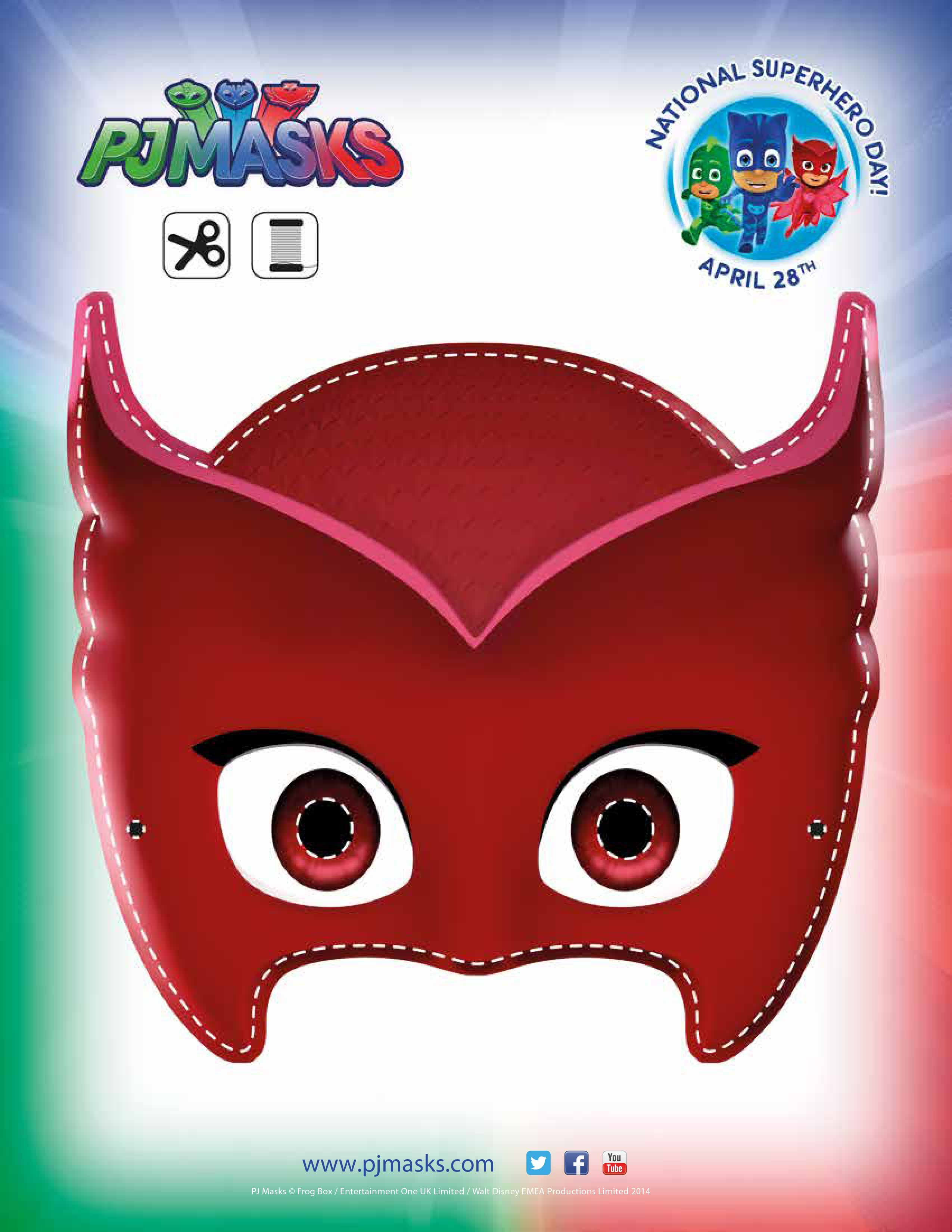 Owlette Mask   Mandy's Party Printables