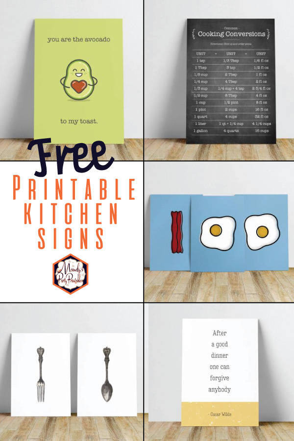 Printable Kitchen Signs Free Mandy S Party Printables