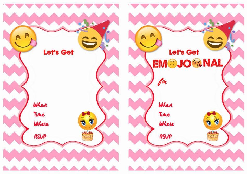 4 Emoji Invitation Options
