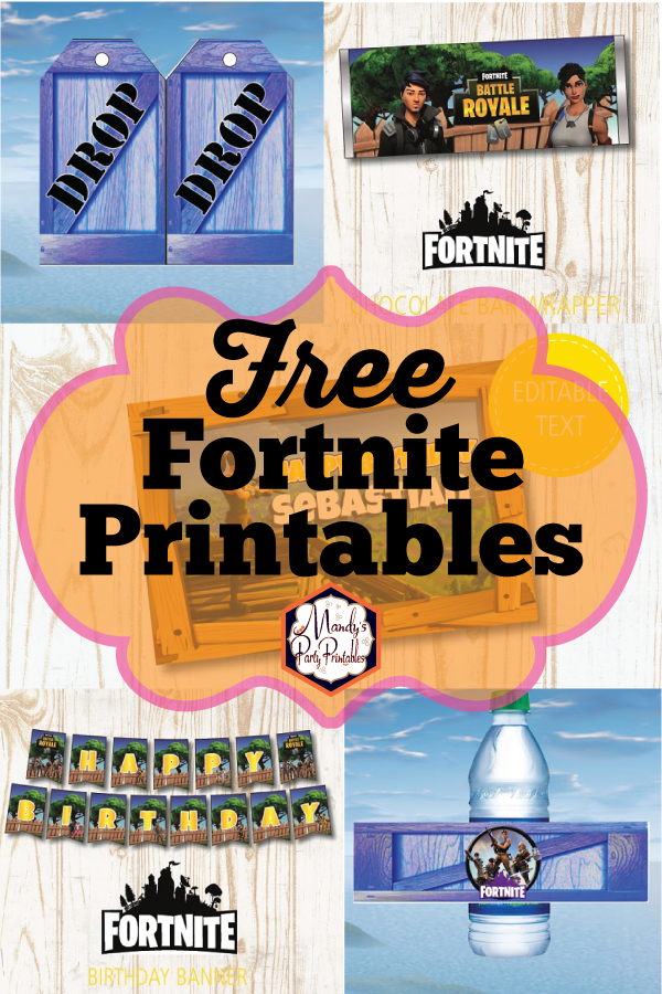 graphic regarding Free Fortnite Printable Labels named Free of charge Fortnite Occasion Printables