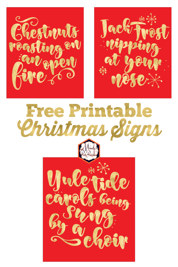 photograph regarding Free Printable Christmas Signs referred to as Xmas Music Printable Indications Totally free!