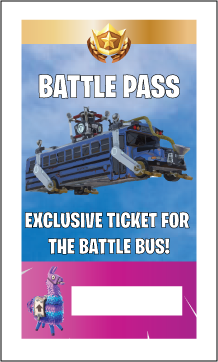 photo relating to Free Printable Vip Pass Template referred to as Cost-free Printable Fortnite Beat P Lanyard