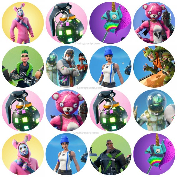 graphic relating to Pokemon Cupcake Toppers Printable identify Fortnite Free of charge Printable Cake Toppers Oh My Fiesta For Geeks