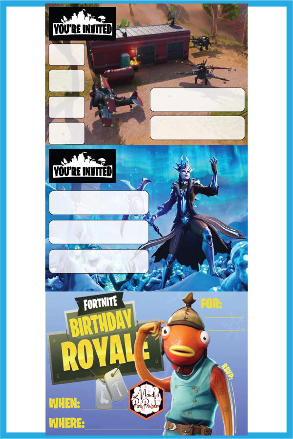 Free Printable Fortnite Party Invitations