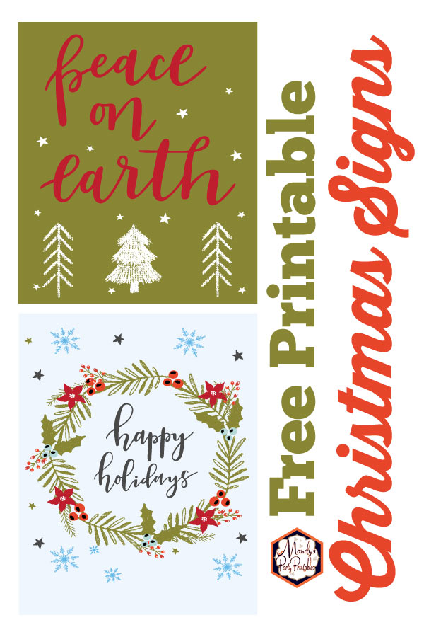 photograph about Free Printable Christmas Signs known as Xmas Indicators Cost-free Printable!